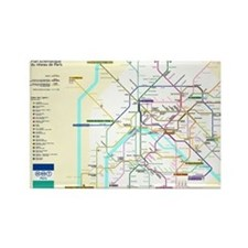 Paris Metro Map Magnets