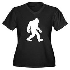 White Bigfoot Silhouette Plus Size T-Shirt