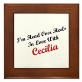 In Love with Cecilia Framed Tile