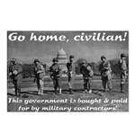 Go Home Civilian Postcard