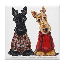Sweater Scotties Tile Coaster