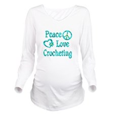 Peace Love Crocheting Long Sleeve Maternity T-Shir