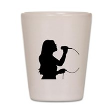 Female Singer Shot Glass