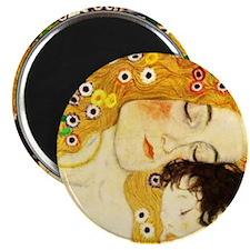Gustav Klimt Mother and Child Magnets