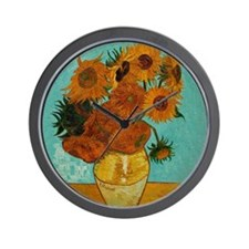 vincent van gogh sunflowers Wall Clock