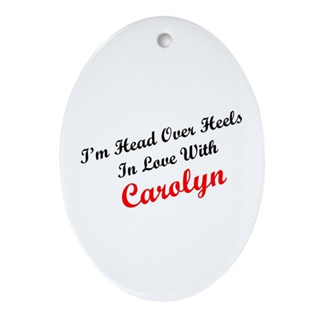In Love with Carolyn Oval Ornament
