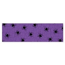 Purple Spider Pattern Bumper Bumper Sticker