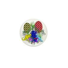Dinosaur Decorated Eggs Mini Button