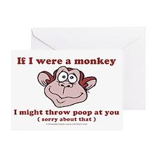 sometimesiwishiwereamonkey Greeting Card