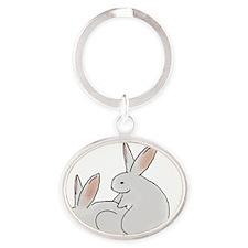 Bunny Hump Trans Oval Keychain