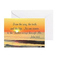 JOHN 14:6 Greeting Cards (Pk of 20)