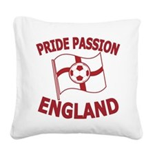 England Flag and football Square Canvas Pillow