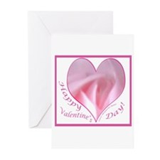 Pink Rose in Heart, Valentine Greeting Cards (Pack