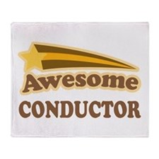 Awesome Conductor Throw Blanket