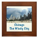 Chicago The Windy City Framed Tile