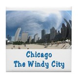 Chicago The Windy City Tile Coaster