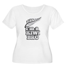 Im a KIWI BRO! with silver fern on grey Plus Size