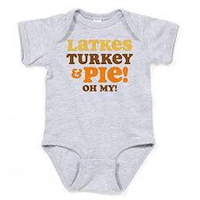 Latkes Turkey And Pie Baby Bodysuit