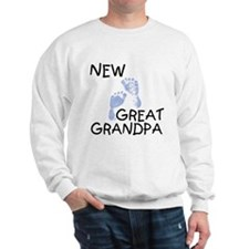 New Great Grandpa (blue) Sweatshirt