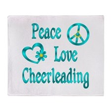 Peace Love Cheerleading Throw Blanket