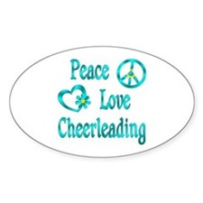 Peace Love Cheerleading Decal