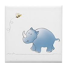 Rhino and Bee Tile Coaster