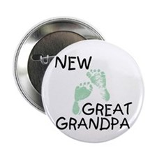 New Great Grandpa (green) Button