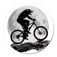 Howl at the Moon Round Car Magnet
