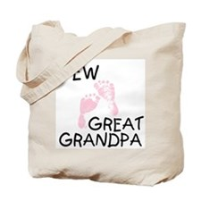 New Great Grandpa (pink) Tote Bag