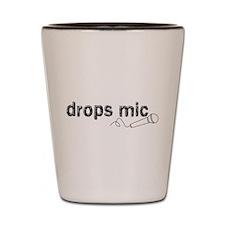 Drops Mic Comedy Shot Glass