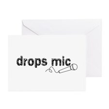 Drops Mic Comedy Greeting Cards (Pk of 10)