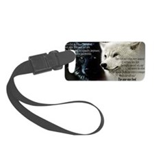 two wolfs in every person Luggage Tag