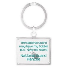 Natinoal Guard Fiancee Heart Keychains