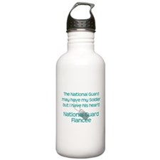 Natinoal Guard Fiancee Heart Water Bottle
