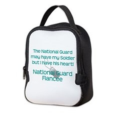 Natinoal Guard Fiancee Heart Neoprene Lunch Bag