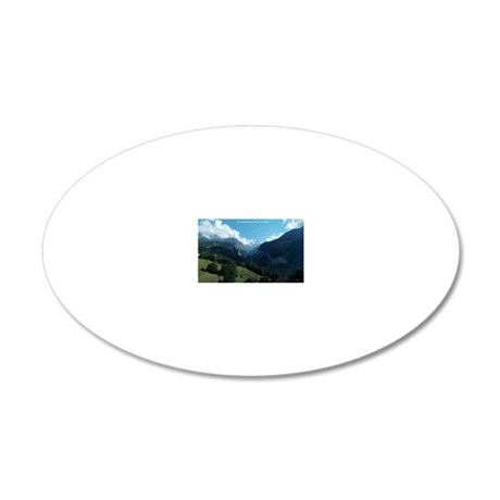 Lauterbrunnen Valley from We 20x12 Oval Wall Decal
