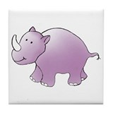 Purple Rhino Tile Coaster