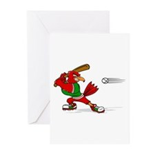 Angry Cardinal Batter Greeting Cards
