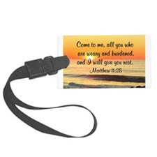 MATTHEW 11:28 Large Luggage Tag