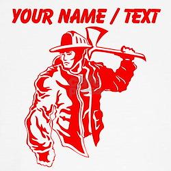 Custom Red Firefighter T-Shirt
