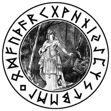 freya rune shield necklace circle charm jpg height 460 amp width 460    Freyja Rune