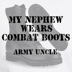 Army Uncle Nephew wears CB T-Shirt