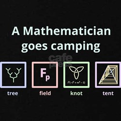 A Mathematician goes camping (for dark backgrounds