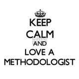 Keep Calm and Love a Methodologist Water Bottle