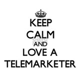 Keep Calm and Love a Telemarketer Mugs