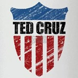 Ted Cruz Patriot Shield Drinking Glass
