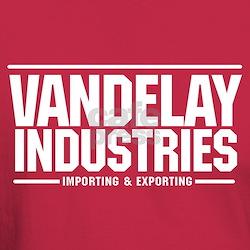 Vandelay Import Export T-Shirt Cardinal Red