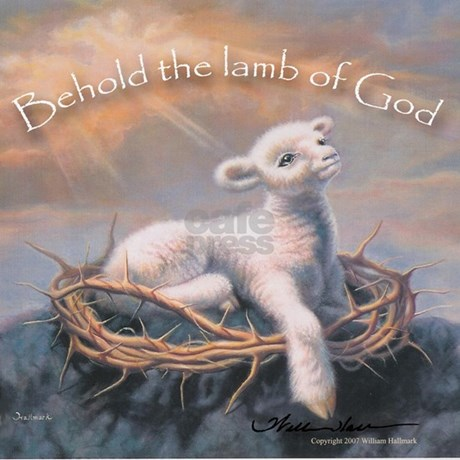 """Behold the Lamb"" Fine Art Lamb of God Pillow by christian ..."