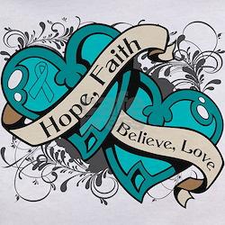 PKD Hope Faith Dual Hearts Tee