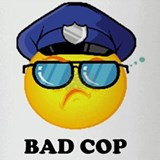 badcop Drinking Glass